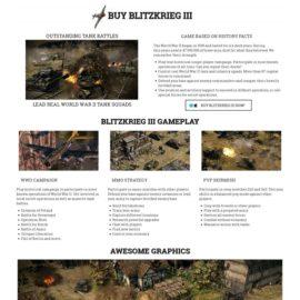 Игра Blitzkrieg III. Лэндинг пейдж