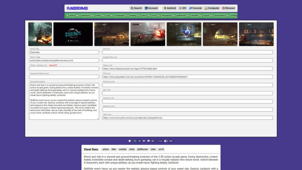 Publishing a Game at PBG